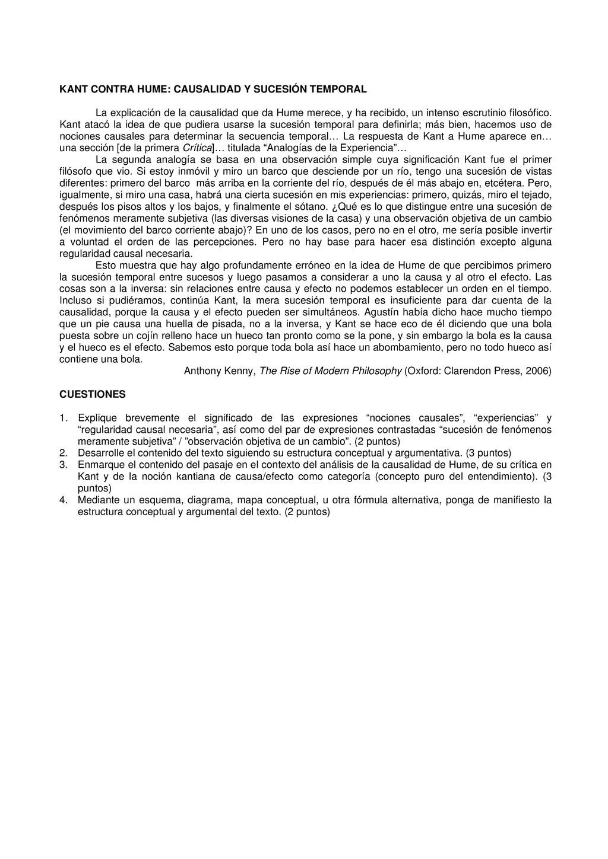 KANT CONTRA HUME: CAUSALIDAD Y SUCESIÓN TEMPORA...