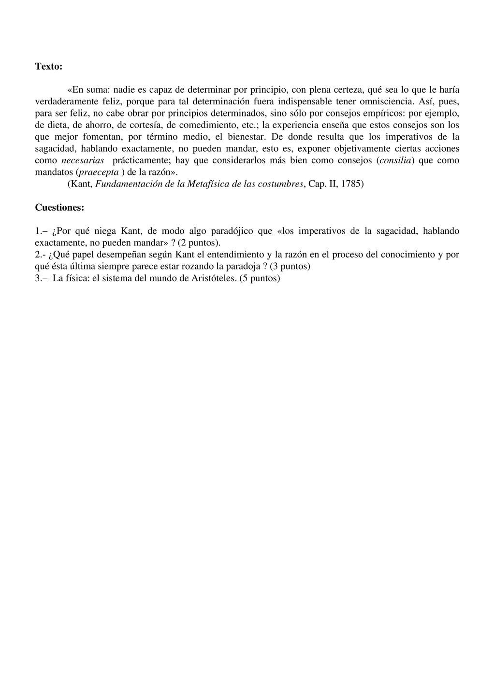 Texto: «En suma: nadie es capaz de determinar p...