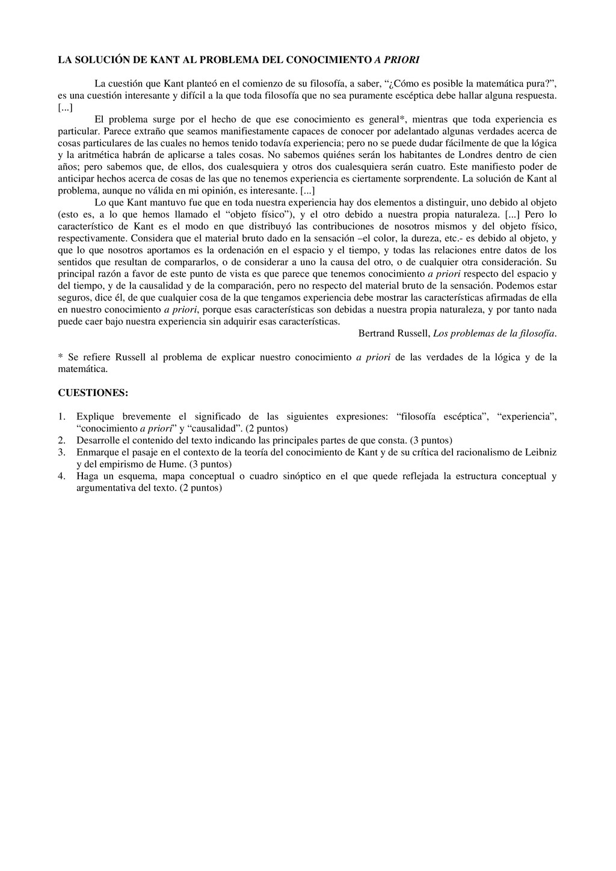 LA SOLUCIÓN DE KANT AL PROBLEMA DEL CONOCIMIENT...