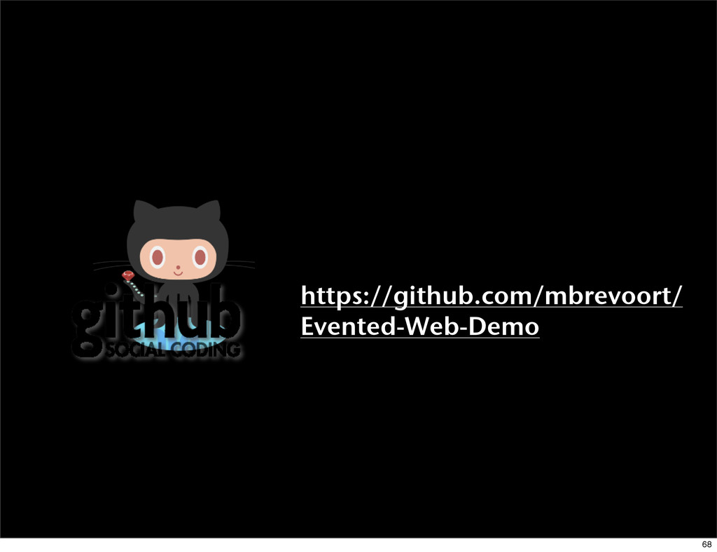 https://github.com/mbrevoort/ Evented-Web-Demo ...