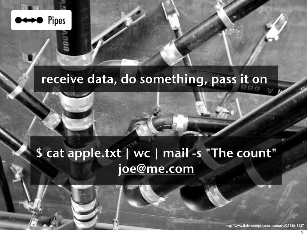 receive data, do something, pass it on $ cat ap...
