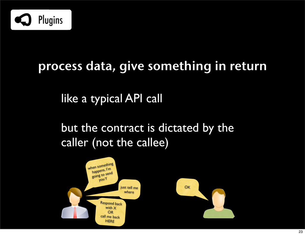 process data, give something in return like a t...