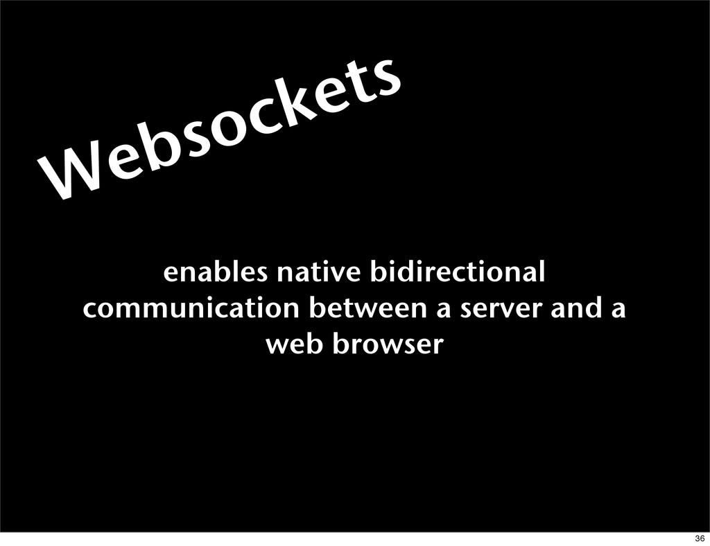 Websockets enables native bidirectional communi...