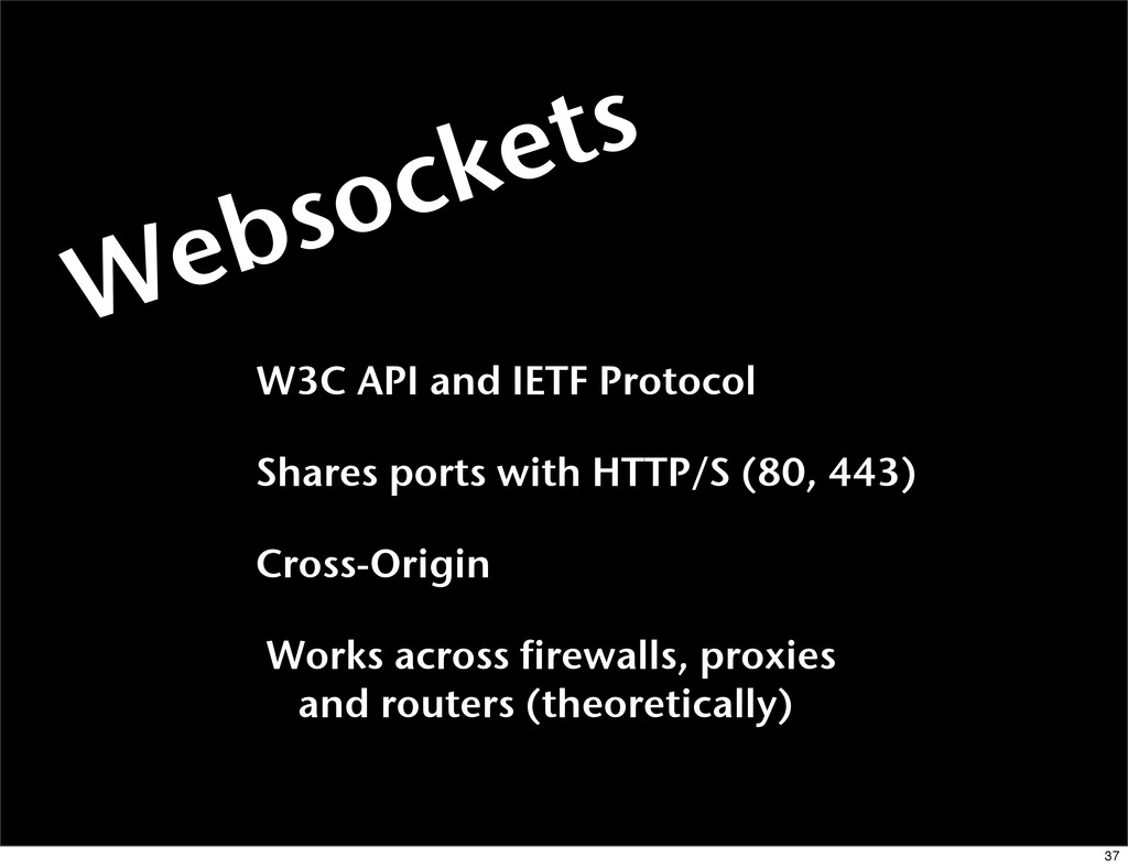W3C API and IETF Protocol Shares ports with HTT...