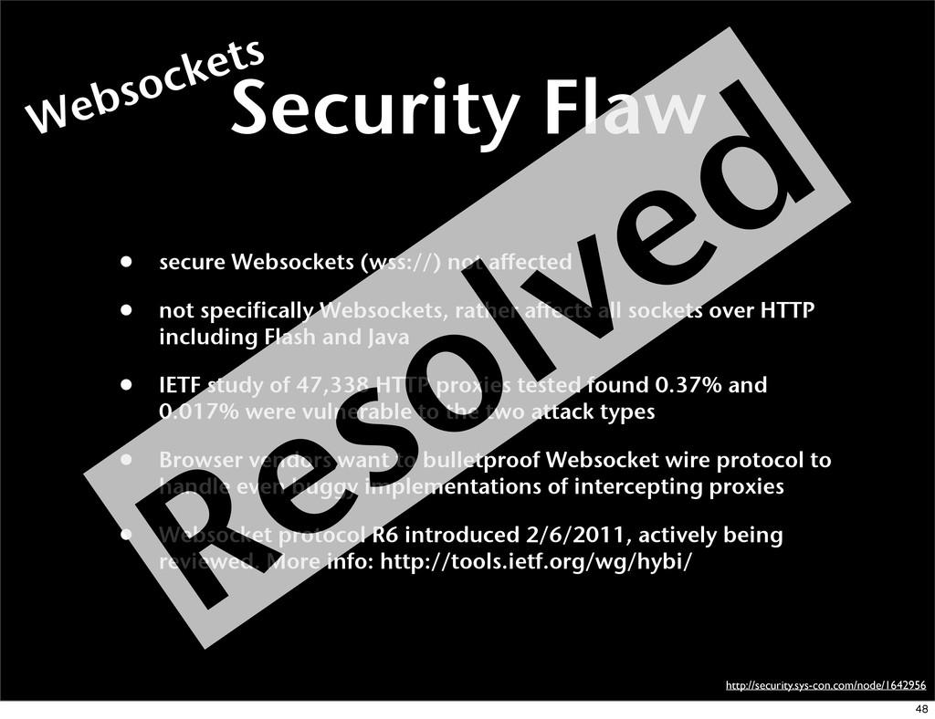 Security Flaw • secure Websockets (wss://) not ...
