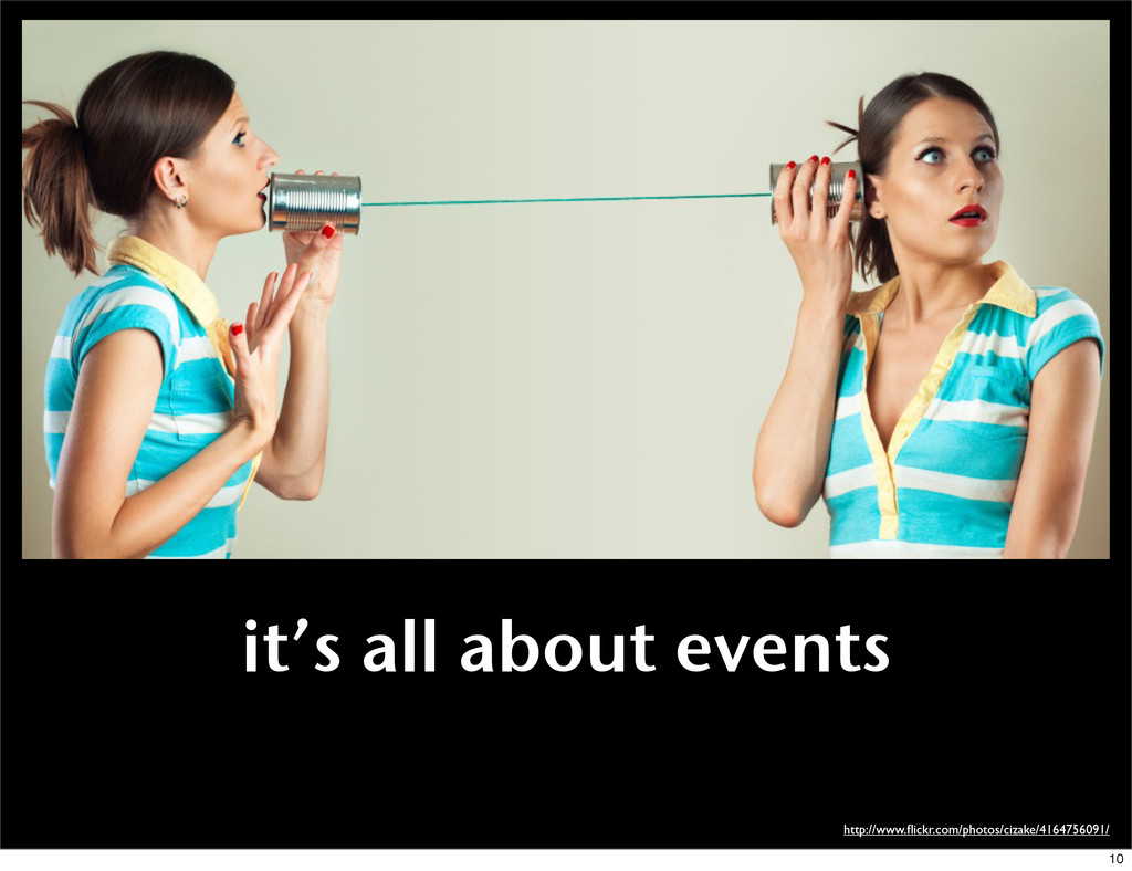 it's all about events http://www.flickr.com/phot...