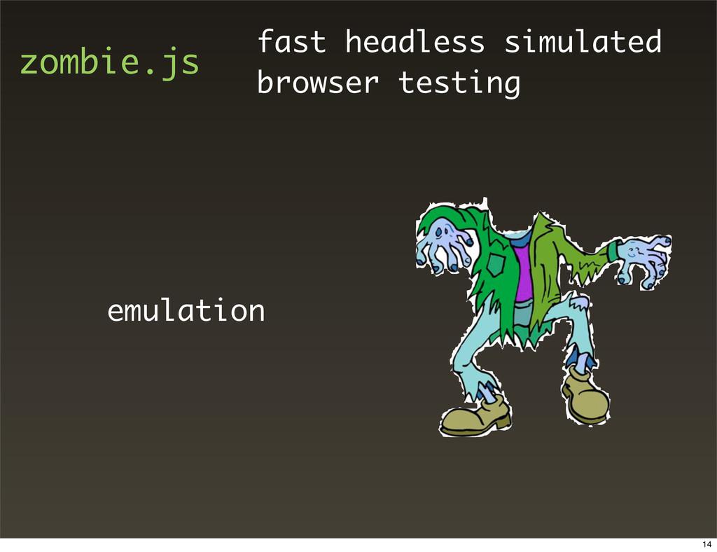 zombie.js fast headless simulated browser testi...