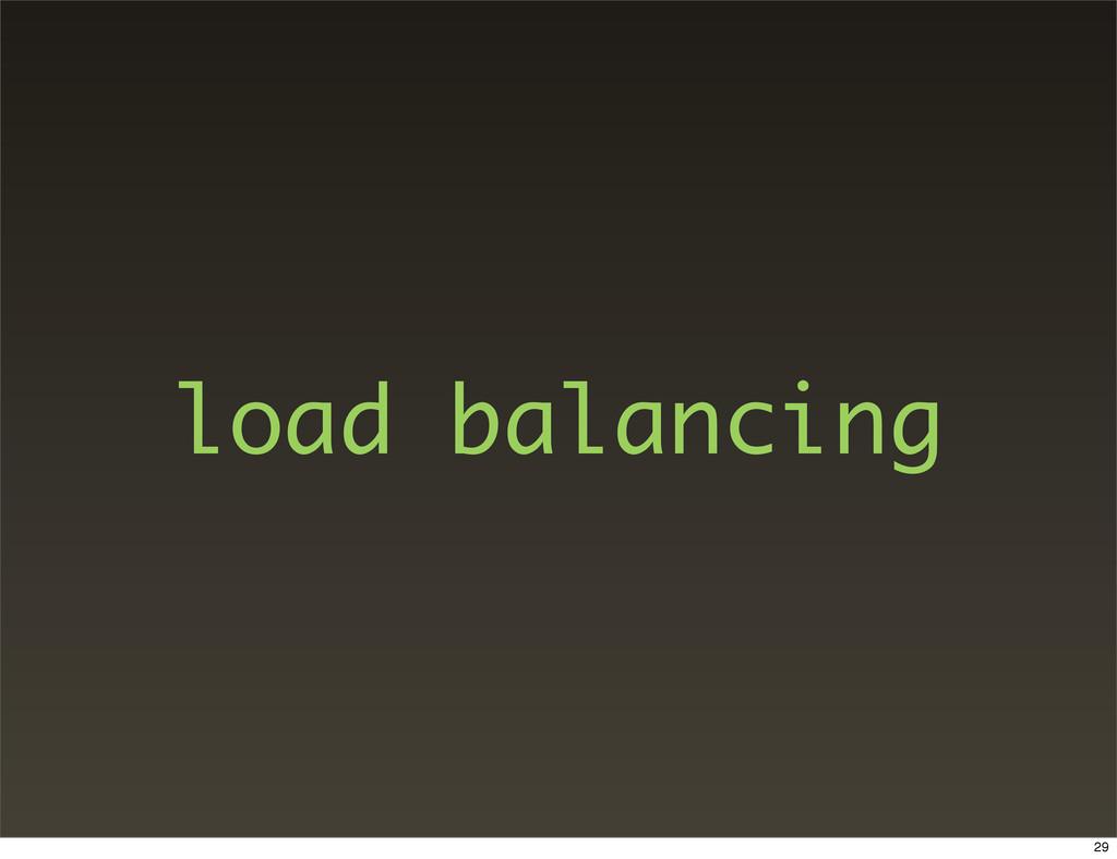 load balancing 29