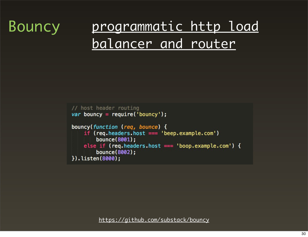 Bouncy programmatic http load balancer and rout...