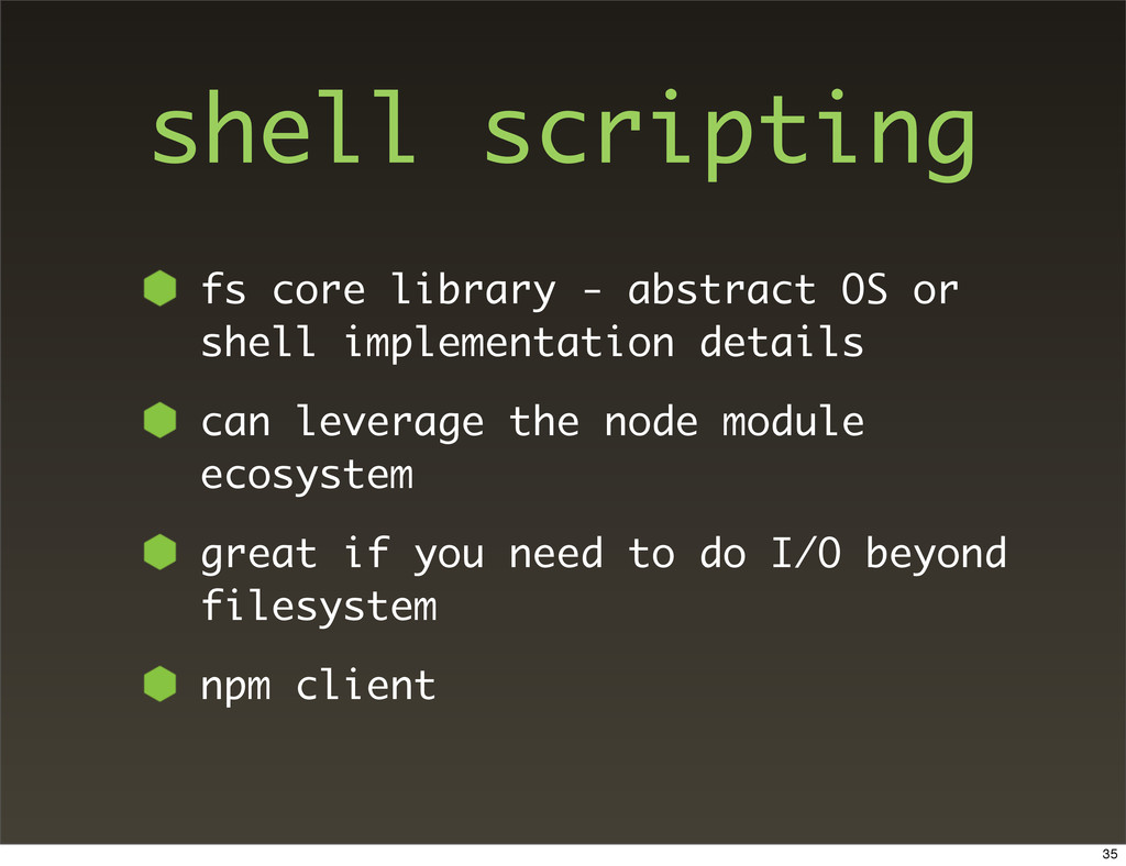 shell scripting fs core library - abstract OS o...