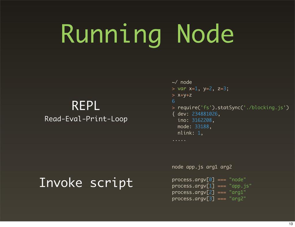 Running Node REPL Read-Eval-Print-Loop Invoke s...