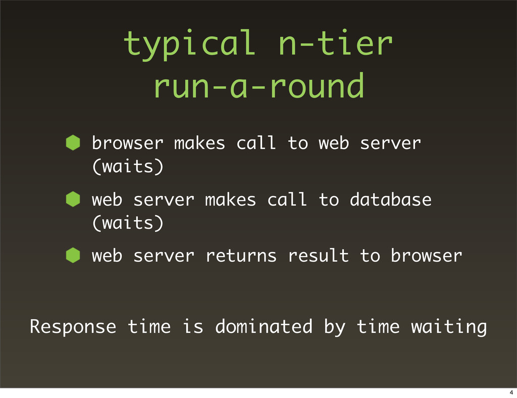 typical n-tier run-a-round browser makes call t...
