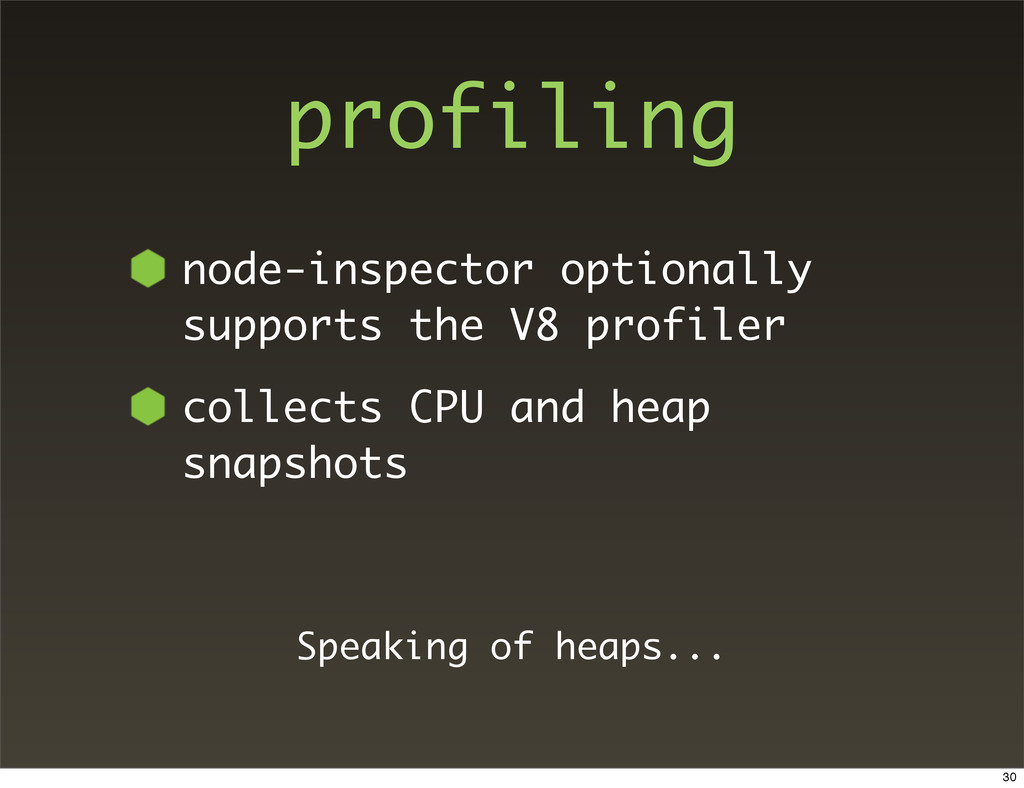 profiling node-inspector optionally supports th...