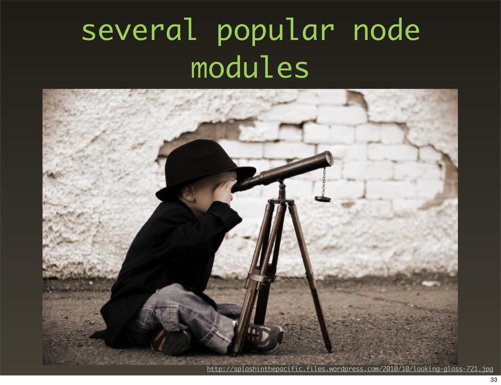 several popular node modules http://splashinthe...
