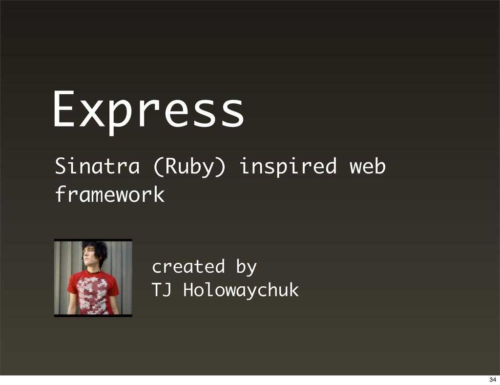 Express Sinatra (Ruby) inspired web framework c...