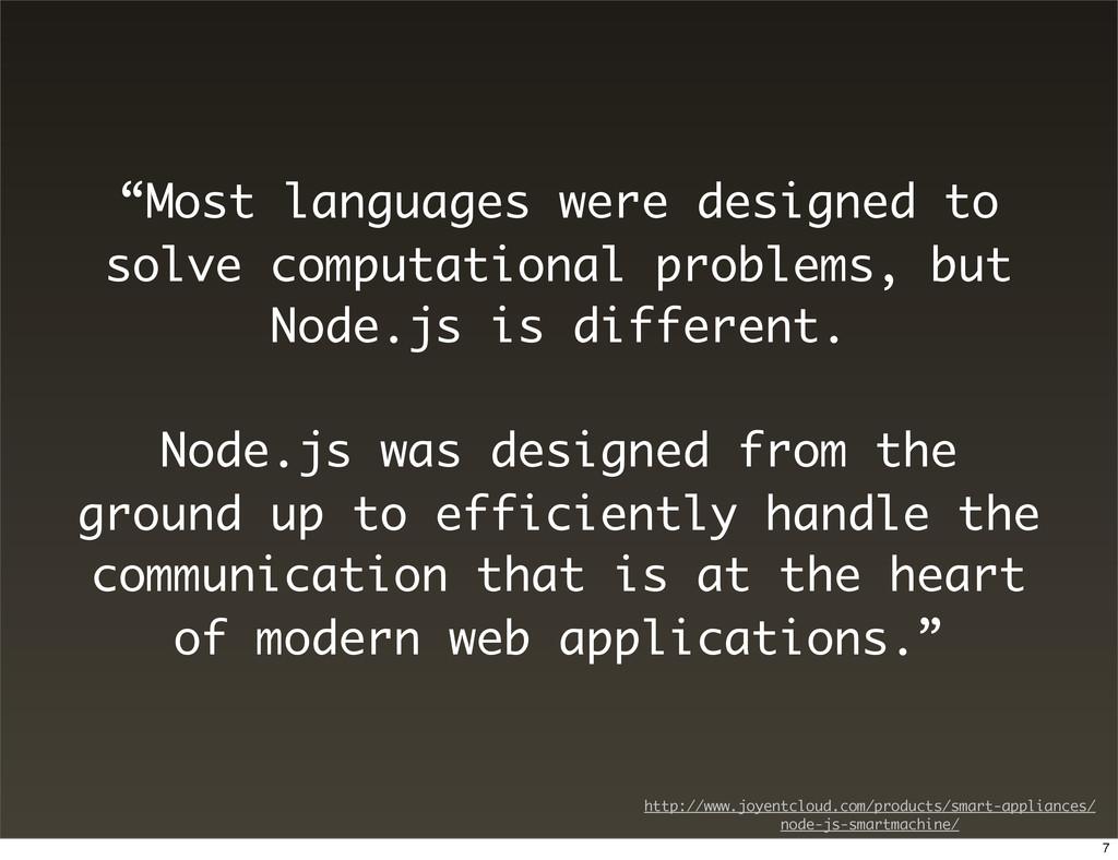 """Most languages were designed to solve computat..."