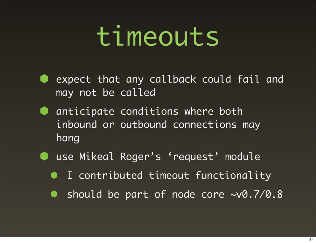 timeouts expect that any callback could fail an...
