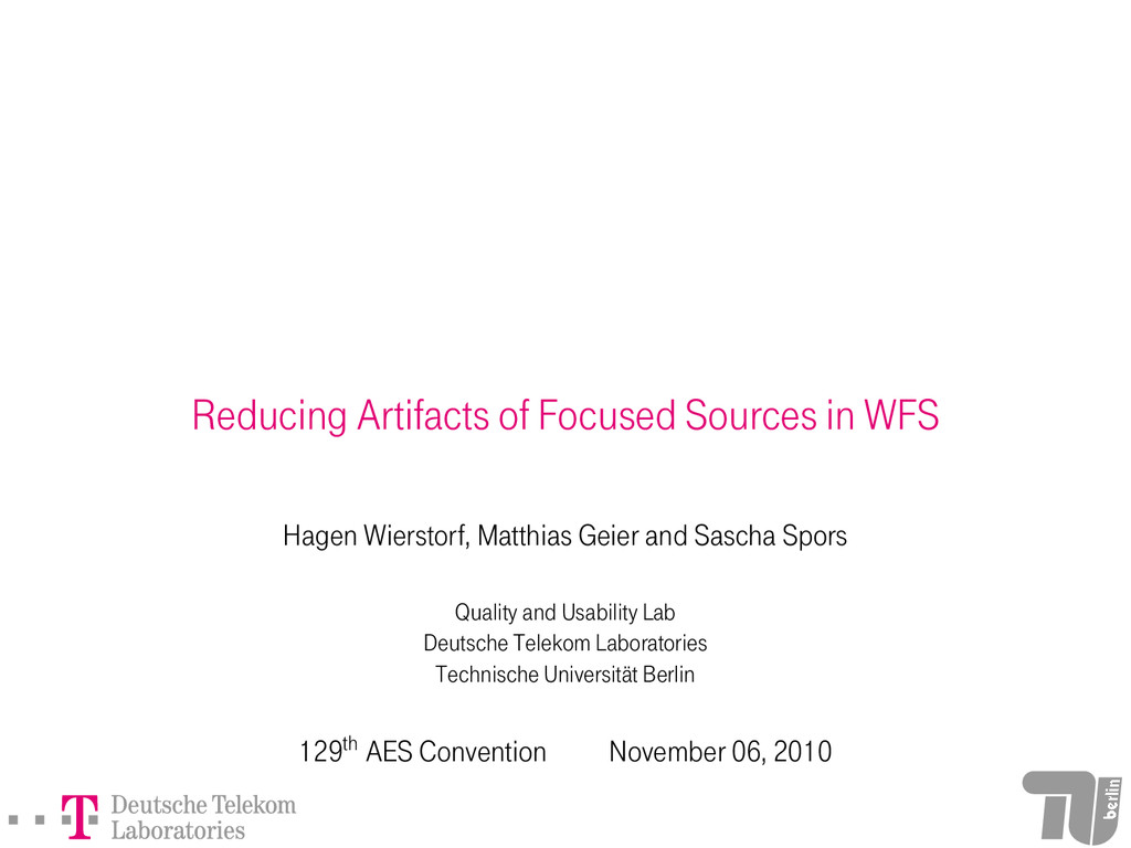 Reducing Artifacts of Focused Sources in WFS Ha...