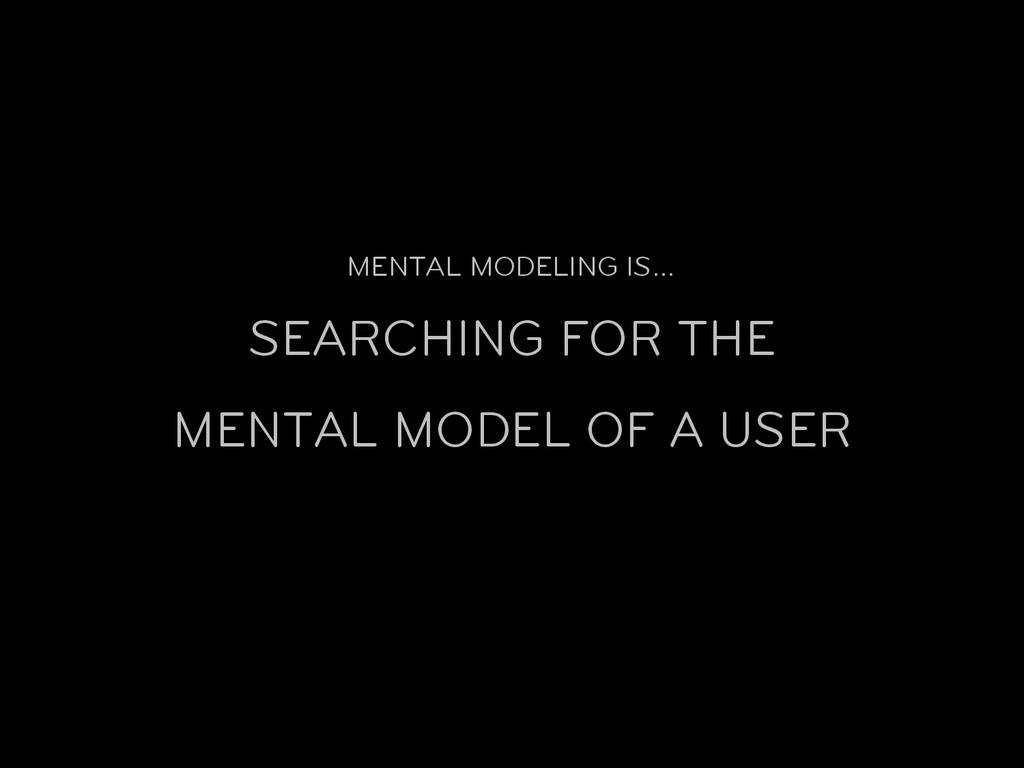 MENTAL MODELING IS… SEARCHING FOR THE MENTAL MO...