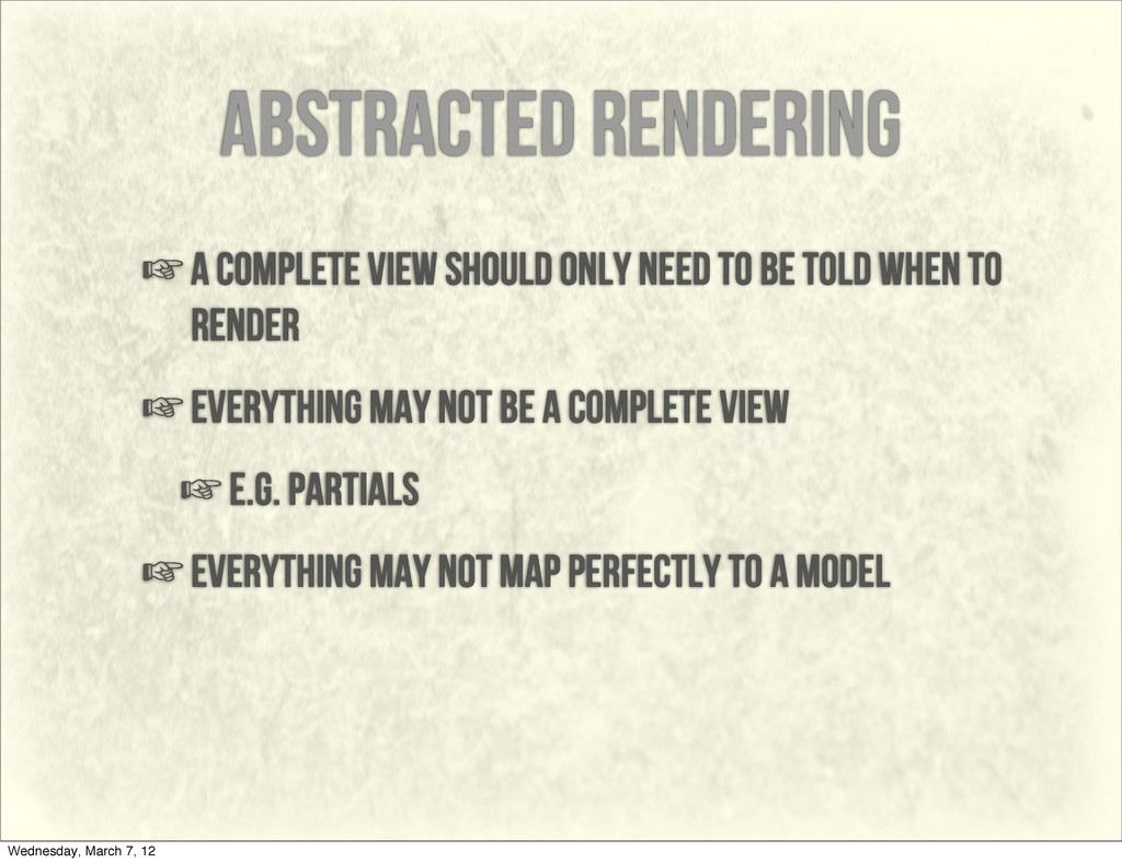 abstracted rendering ☞a complete view should on...