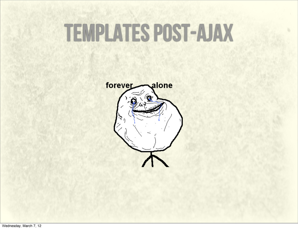 templates post-ajax Wednesday, March 7, 12