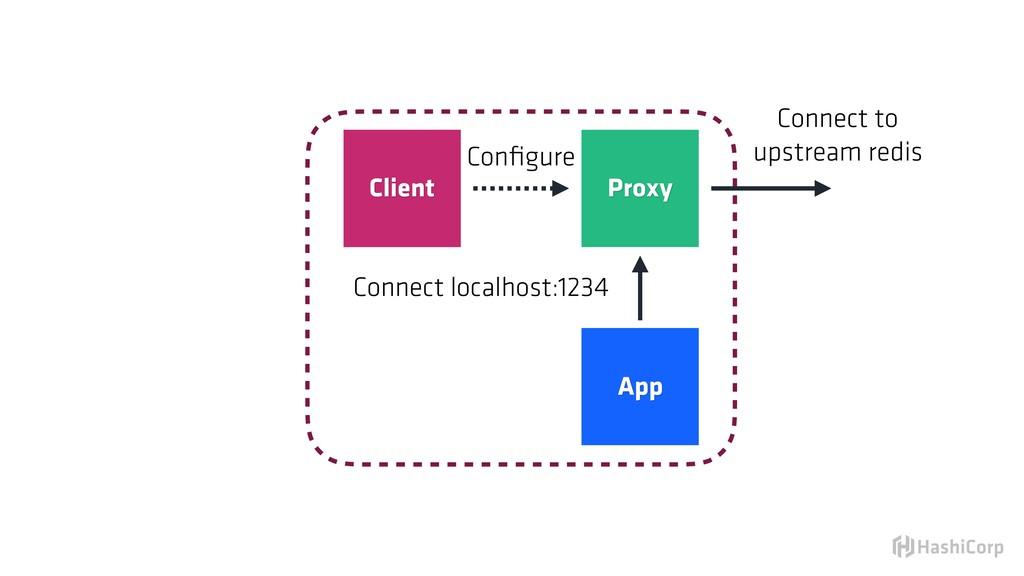 Proxy Client App Configure Connect localhost:123...