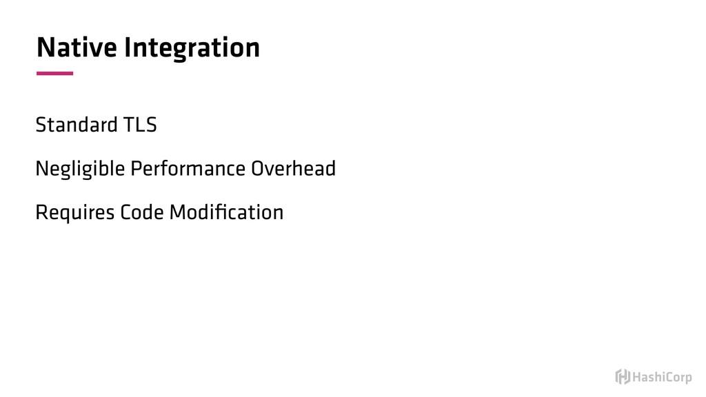 Native Integration Standard TLS Negligible Perf...
