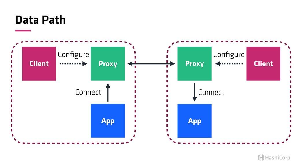 Data Path Client Proxy App Configure Connect Pro...