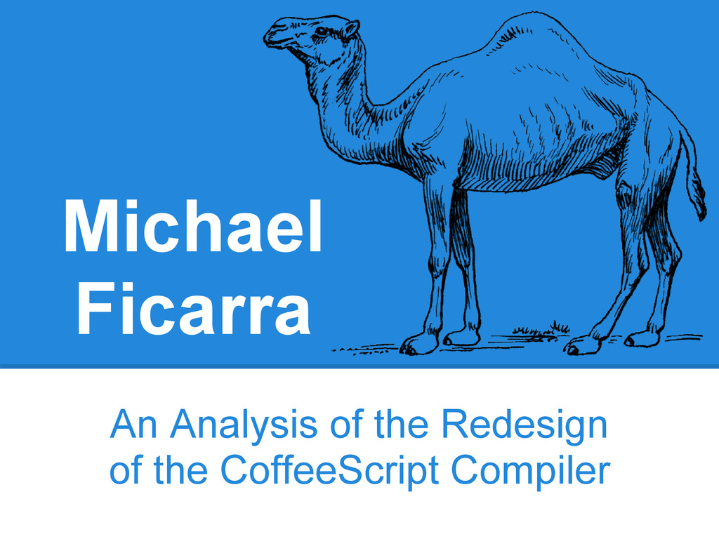 Michael Ficarra An Analysis of the Redesign of ...