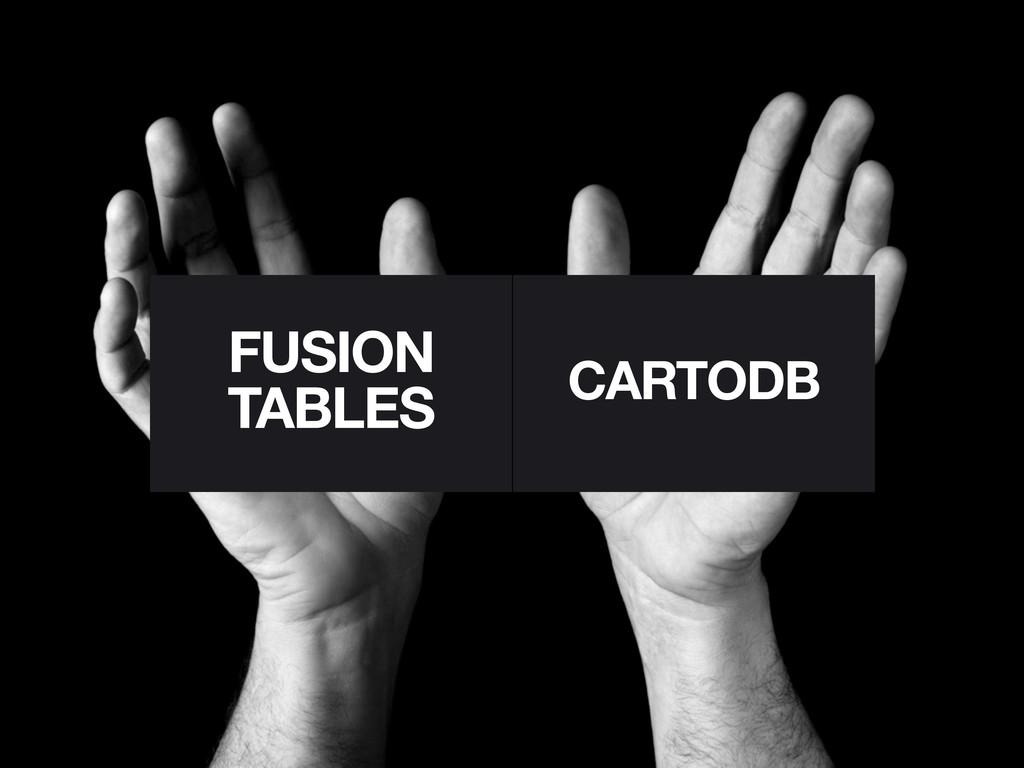 FUSION TABLES CARTODB