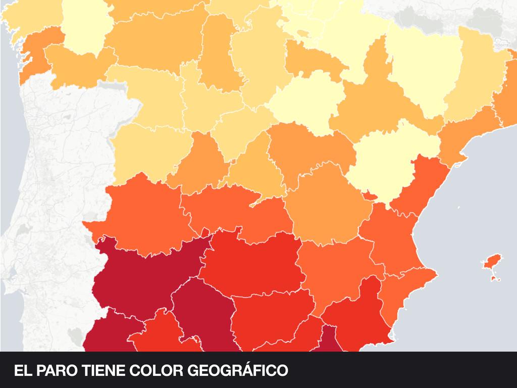 EL PARO TIENE COLOR GEOGRÁFICO