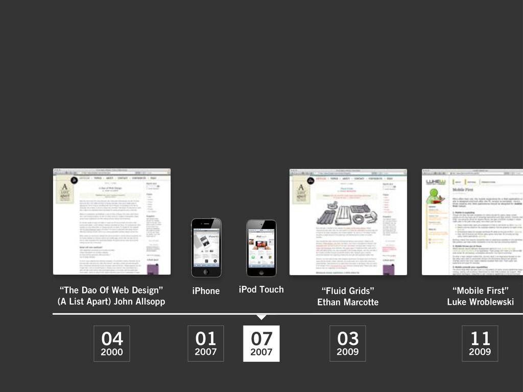 """2000 04 2009 03 2009 11 """"The Dao Of Web Design""""..."""