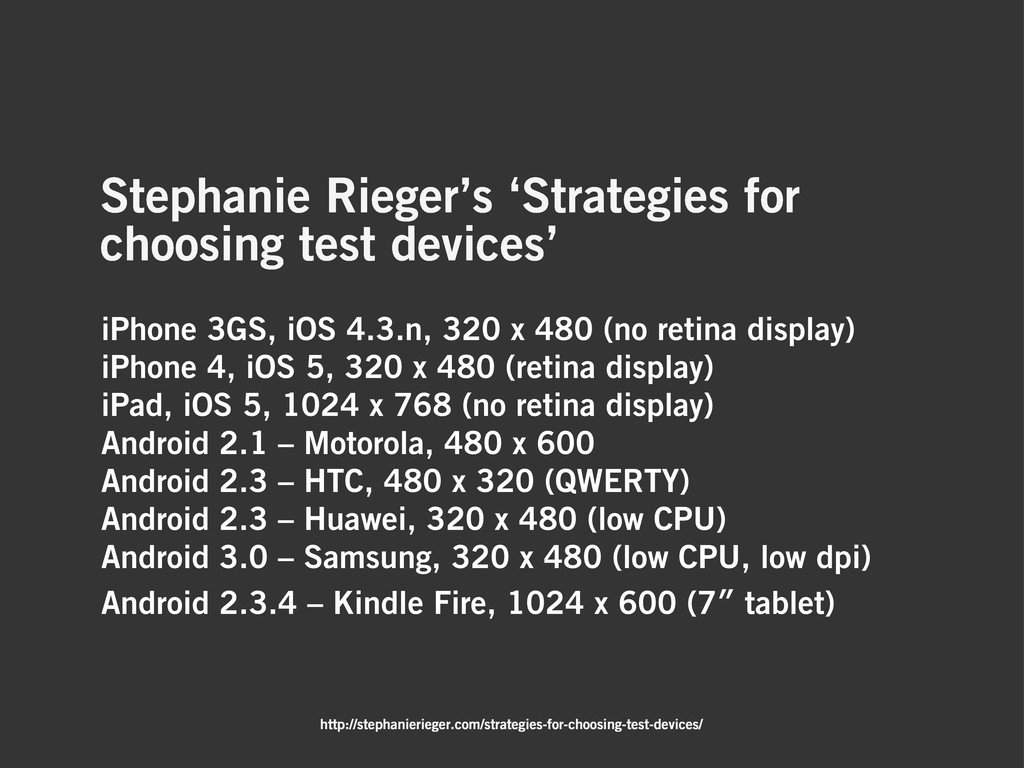 Stephanie Rieger's 'Strategies for choosing tes...