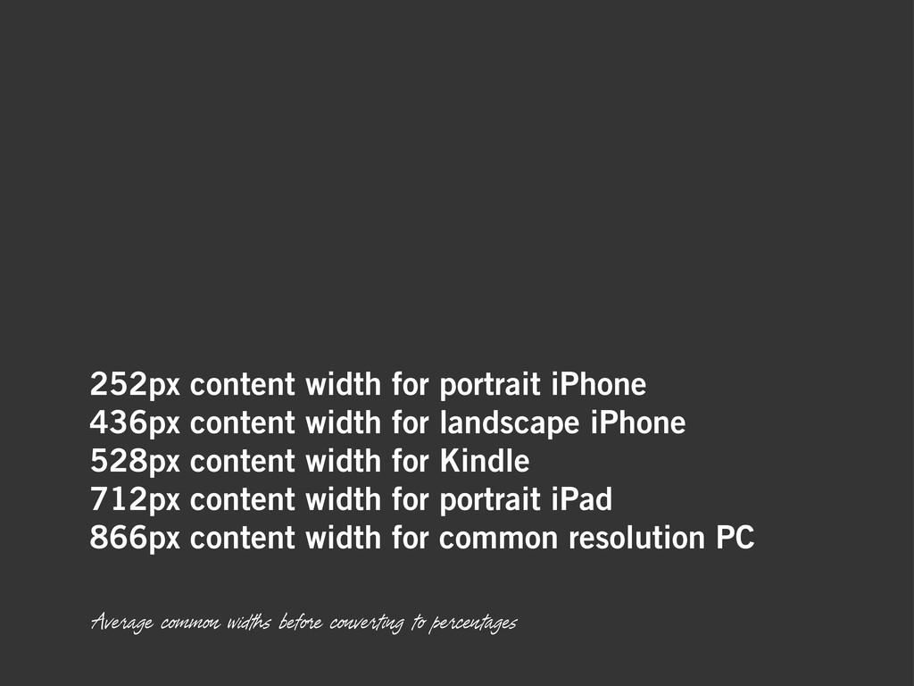 252px content width for portrait iPhone 436px c...