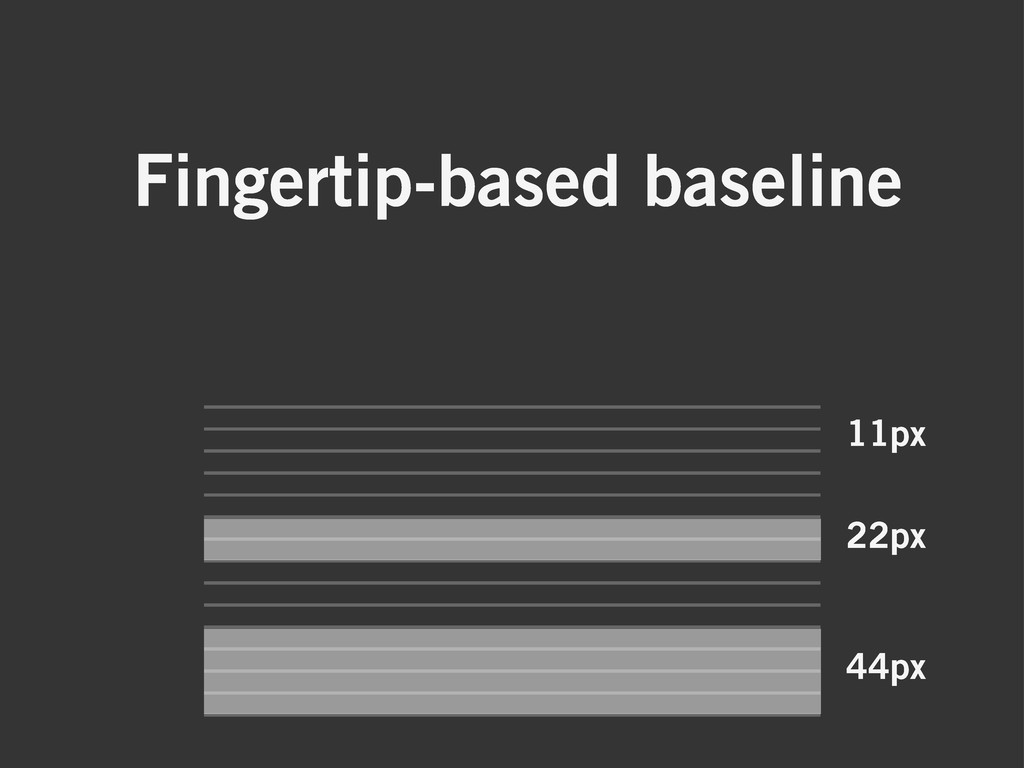 Fingertip-based baseline 11px 22px 44px