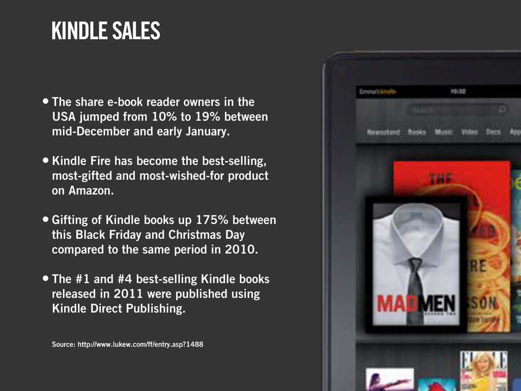 • The share e-book reader owners in the USA jum...