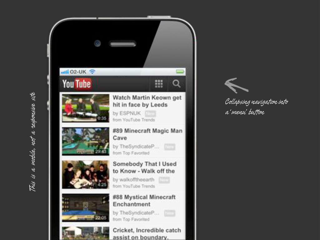 This is a mobile, not a responsive site Collaps...