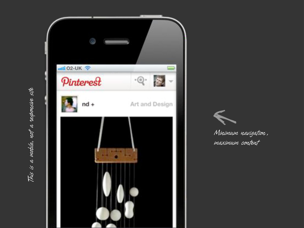 This is a mobile, not a responsive site Minimum...
