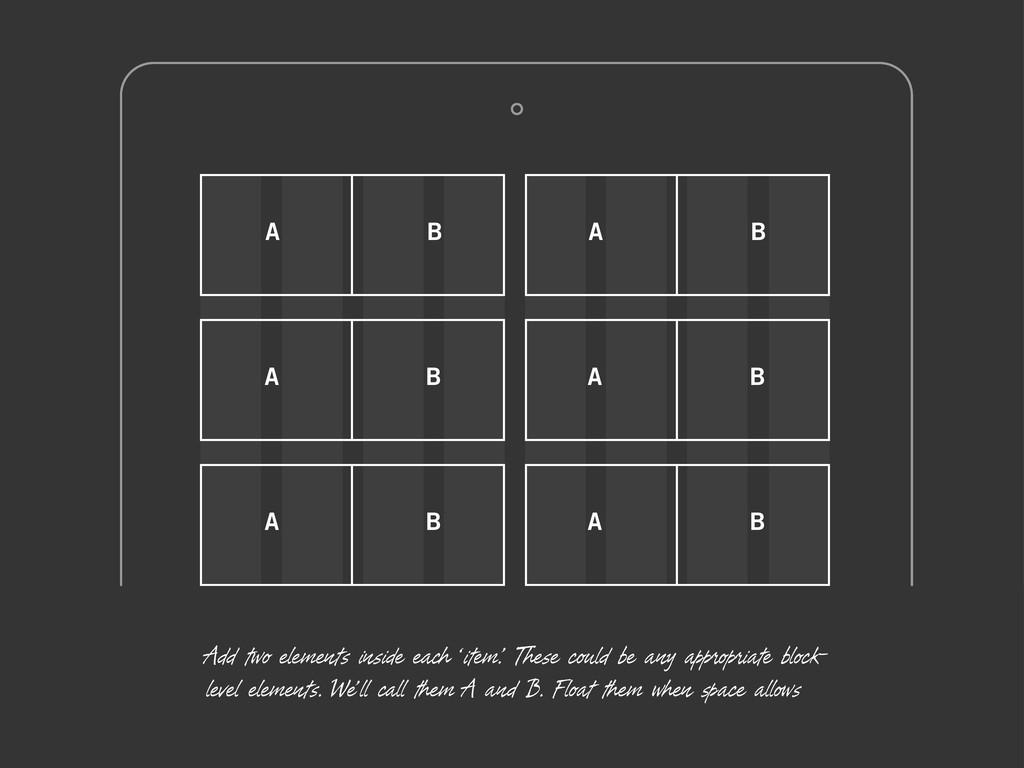 A B A B A B A B A B A B Add two elements inside...