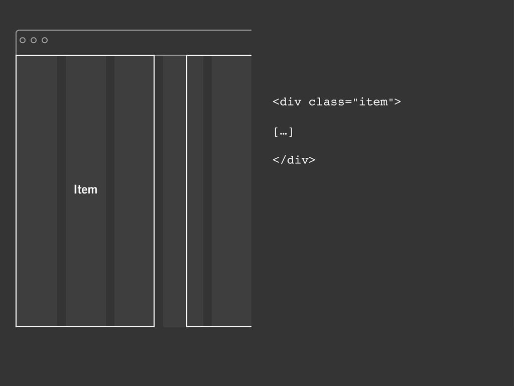 """Item <div class=""""item""""> […] </div>"""