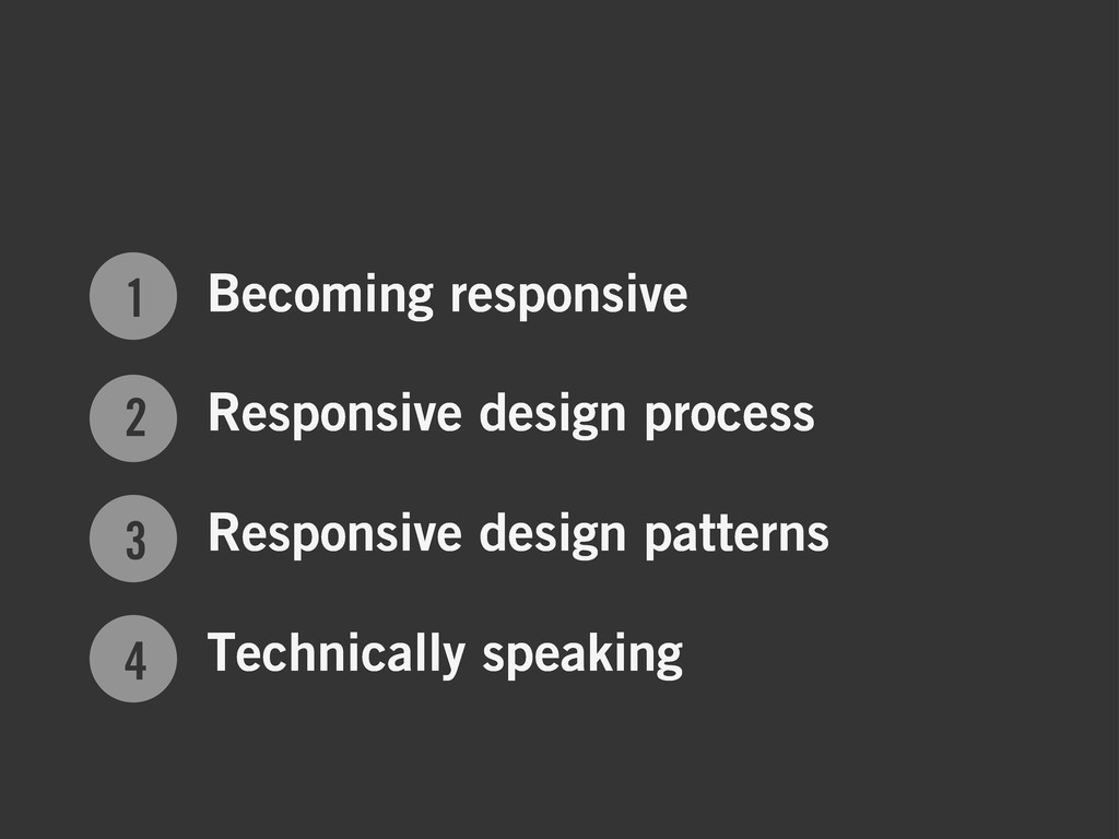 1 2 3 4 Becoming responsive Responsive design p...