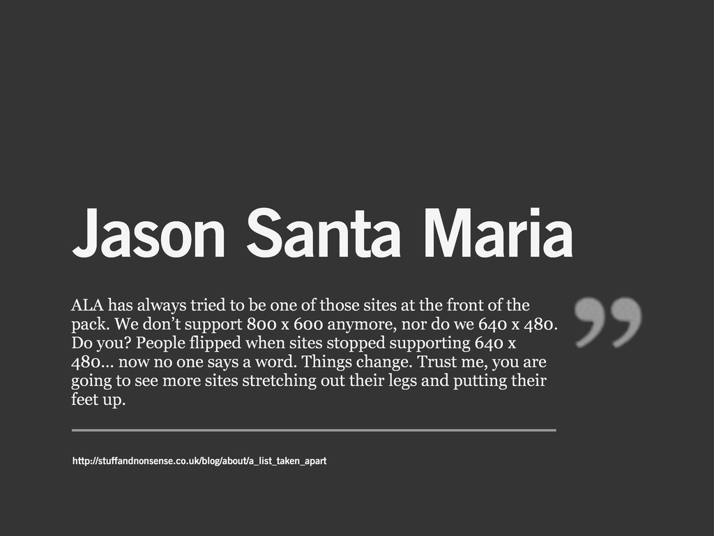 Jason Santa Maria ALA has always tried to be on...