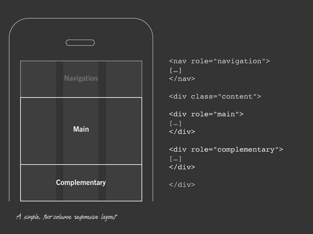 "Navigation Complementary Main <nav role=""naviga..."