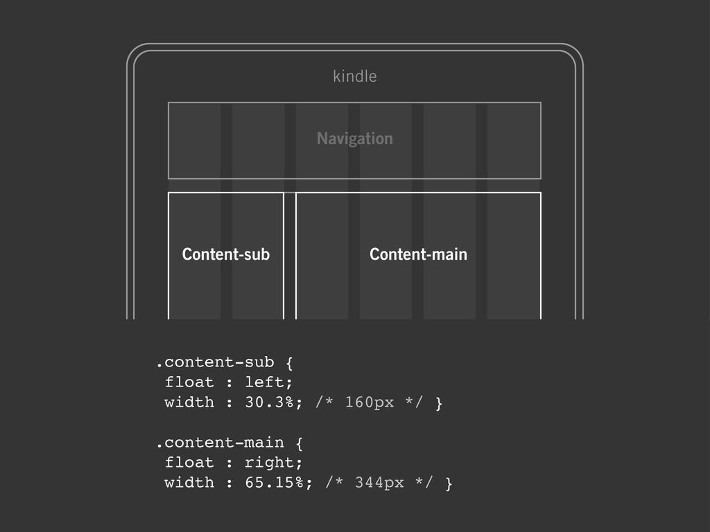 .content-sub { float : left; width : 30.3%; /* ...