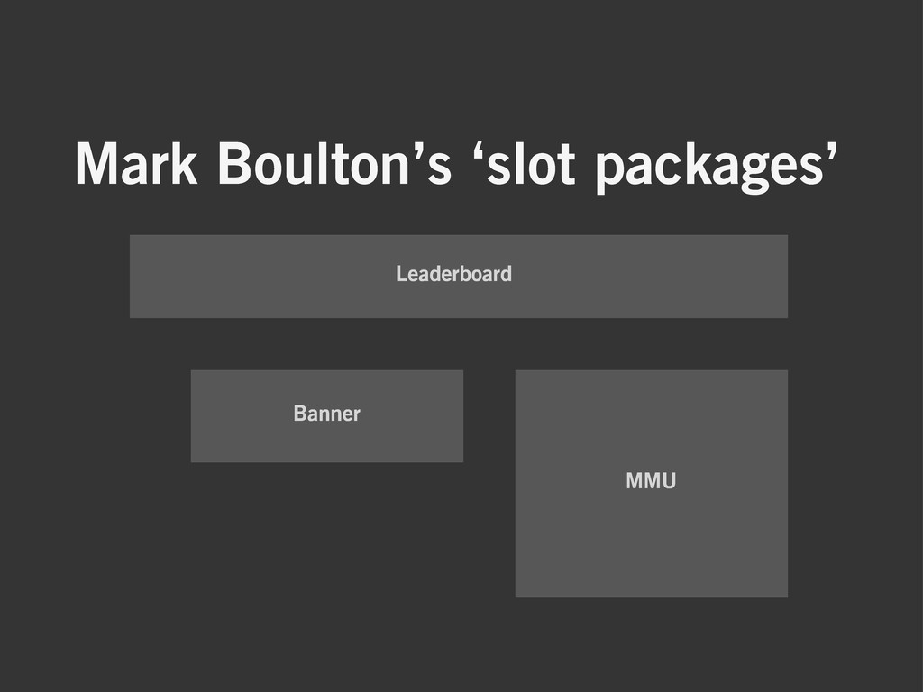 Mark Boulton's 'slot packages' Leaderboard Bann...