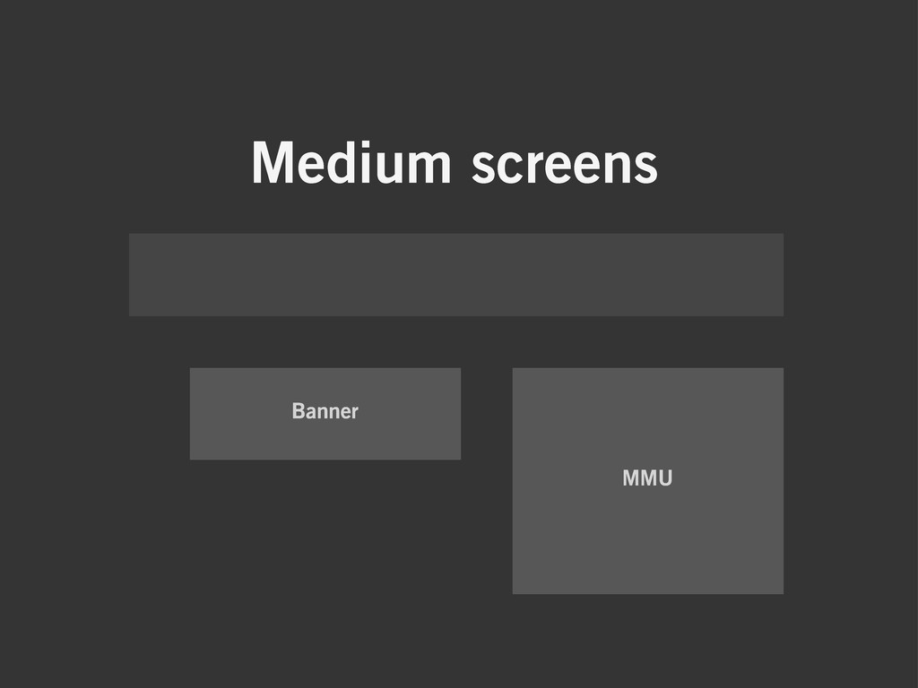 Medium screens Banner MMU