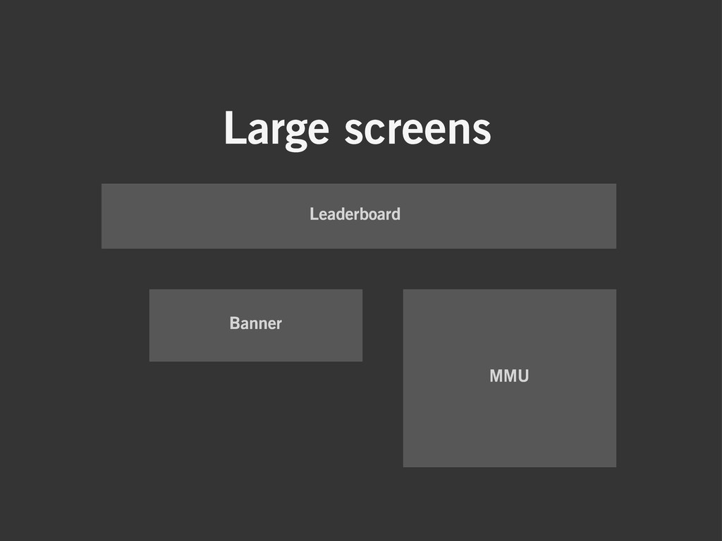 Large screens Leaderboard Banner MMU