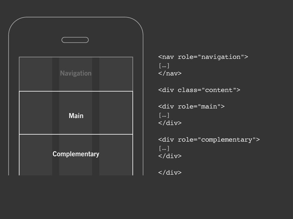"Navigation Main Complementary <nav role=""naviga..."