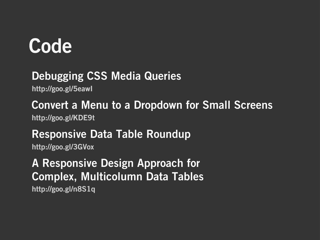 Code A Responsive Design Approach for Complex, ...