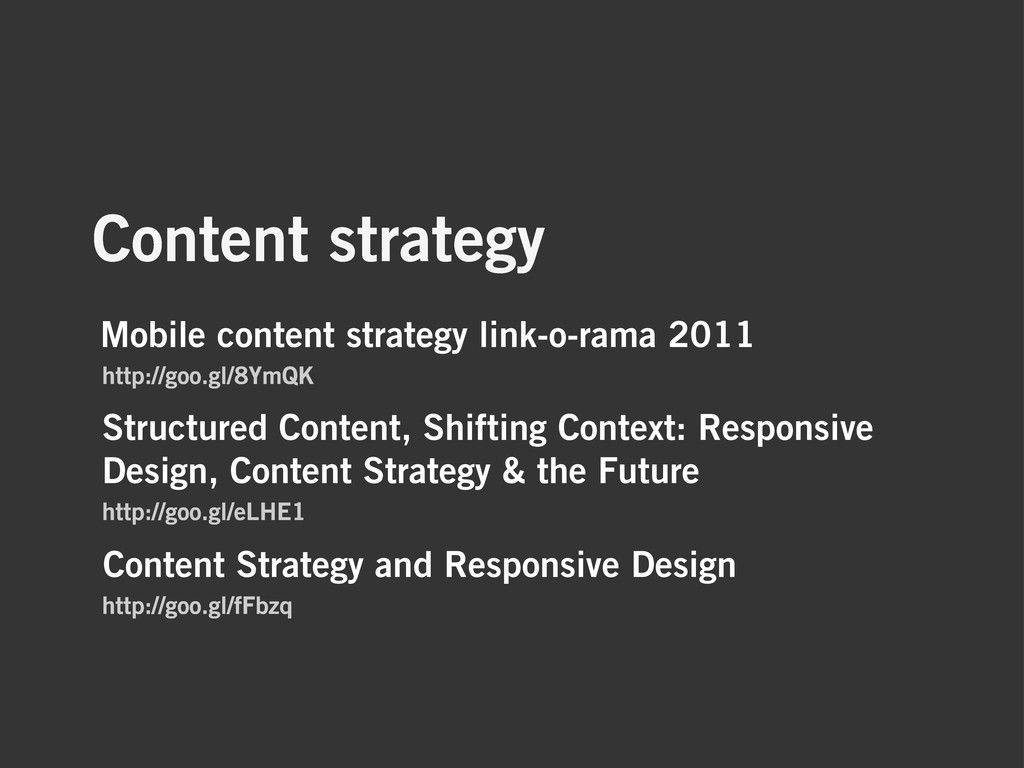 Content strategy Content Strategy and Responsiv...